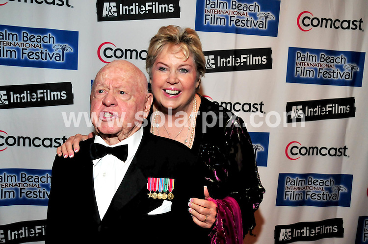 **ALL ROUND PICTURES FROM SOLARPIX.COM**.**SYNDICATION RIGHTS FOR UK, SPAIN, PORTUGAL, AUSTRALIA, S.AFRICA & DUBAI (U.A.E) ONLY**.13th Annual Palm Beach International Film Festival Grand Gala Awards Ceremony Red Carpet, Miami, Florida, USA. 12th April 2008..This pic: Mickey and Jan Rooney..JOB REF: 6133 PHZ/Jay  Kravetz  DATE: 12_04_2008.**MUST CREDIT SOLARPIX.COM OR DOUBLE FEE WILL BE CHARGED* *UNDER NO CIRCUMSTANCES IS THIS IMAGE TO BE REPRODUCED FOR ANY ONLINE EDITION WITHOUT PRIOR PERMISSION*