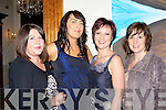 Jackie Buckley, Anita Daly, Elaine Doyle and Sarah Barrett having fun at the fashion show in aid of Irish Hospice Foundation in the Muckross Park Hotel Killarney on Friday