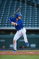 AZL Cubs 1 Ryan Reynolds (17) at bat during an Arizona League game against the AZL Giants Orange on July 10, 2019 at Sloan Park in Mesa, Arizona. The AZL Giants Orange defeated the AZL Cubs 1 13-8. (Zachary Lucy/Four Seam Images)