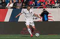 FOXBOROUGH, MA - MARCH 7: Robert Beric #27 of Chicago Fire passes the ball during a game between Chicago Fire and New England Revolution at Gillette Stadium on March 7, 2020 in Foxborough, Massachusetts.