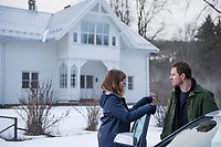 The Snowman (2017) <br /> Michael Fassbender &amp; Rebecca Ferguson  <br /> *Filmstill - Editorial Use Only*<br /> CAP/MFS<br /> Image supplied by Capital Pictures
