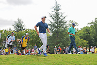 Rory McIlroy (NIR) departs the 11th tee during Sunday's final round of the PGA Championship at the Quail Hollow Club in Charlotte, North Carolina. 8/13/2017.<br /> Picture: Golffile | Ken Murray<br /> <br /> <br /> All photo usage must carry mandatory copyright credit (&copy; Golffile | Ken Murray)