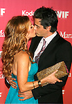 CENTURY CITY, CA. - June 12: Poppy Montgomery and Adam Kaufman arrive at Women In Film's 2009 Crystal + Lucy Awards held at the Hyatt Regency Century Plaza on June 12, 2009 in Century City, California.