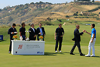 Leading amateur Giovanni Manzoni (ITA) at prize giving the final round of the Rocco Forte Sicilian Open played at Verdura Resort, Agrigento, Sicily, Italy 13/05/2018.<br /> Picture: Golffile | Phil Inglis<br /> <br /> <br /> All photo usage must carry mandatory copyright credit (&copy; Golffile | Phil Inglis)