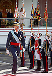 King Felipe VI of Spain attends Spain's National Day Military Parade. October 12 ,2014. (ALTERPHOTOS/Pool)