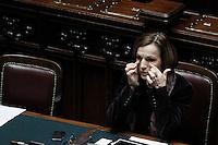 Il Ministro del Lavoro e Pari Opportunità Elsa Fornero.Roma 25/01/2012 Voto alla Camera dei Deputati per la mozione unitaria sulla politica europea dell'Italia.Foto Insidefoto Serena Cremaschi