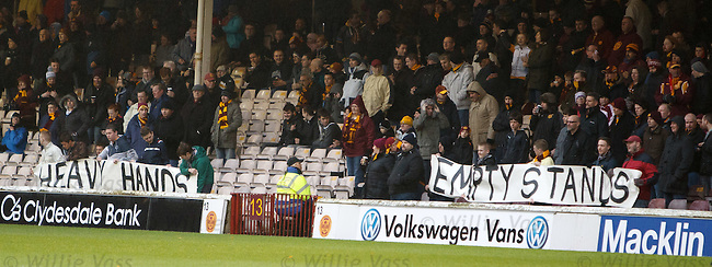 Motherwell fans demonstrate against the police