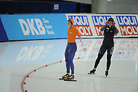SPEEDSKATING: SALT LAKE CITY: 08-12-2017, Utah Olympic Oval, ISU World Cup, 500m Ladies A-Division, Janine Smit (NED), Kaylin Irvine (CAN), ©photo Martin de Jong