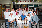 ALL THE BEST; Wishing the Drivers who will be heading off to the Lebanon for the children project on Sunday morning 28th August, at Turners on Saturday night, Front l-r: Stacey Conway and Alison O'Sullivan. Seated l-r: Kieran Star Doneghy, Noel Conway, Wheesie Fogarty, Pauline Conway and Dick Spring. Back were, Christy Kinsella, Paul Horace, Jillian O'Brien, Liam Loughnane, Brian Driscoll, Kieran Murphy, Aidan Turner, Tara Conway, Dave O'Leary and Anne Conway. ..