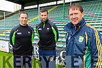 Kerry Minor Management team from left: Eamon Whelan, Micheal Se and Jack O'Connor Manager