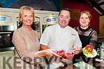 Glin NS Fundraiser: Pictured with celebrity chef Neven Maguire at Glin Community Centre at the fundraiser for St Fergus's NS on Wednesday 8th November were Geraldine O'Donovan & Deirdre Kennelly, principal.