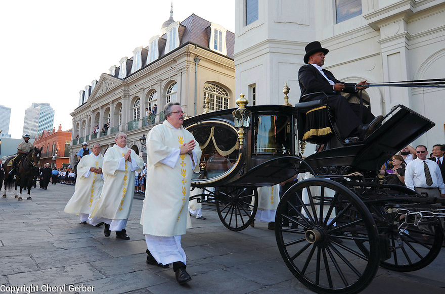 Funeral for Archbishop Philip Hannan, French Quarter, 2011