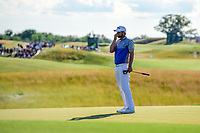 Bernd Wiesberger (AUT) reacts to barely missing his putt on 18 during Sunday's round 4 of the 117th U.S. Open, at Erin Hills, Erin, Wisconsin. 6/18/2017.<br /> Picture: Golffile | Ken Murray<br /> <br /> <br /> All photo usage must carry mandatory copyright credit (&copy; Golffile | Ken Murray)