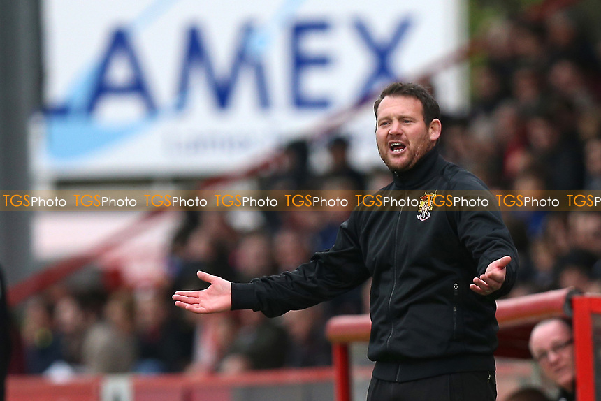 Stevenage manager Darren Sarll during Stevenage vs Morecambe, Sky Bet EFL League 2 Football at the Lamex Stadium on 14th April 2017