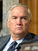 "United States Senator Luther Strange (Republican of Alabama), who replaced now-Attorney General Jeff Sessions in the US Senate, listens as US Secretary of Defense James N. Mattis and General Joseph F. Dunford, Jr., US Marine Corps, Chairman of the Joint Chiefs of Staff, give testimony before the US Senate Committee on Armed Services on ""the Department of Defense budget posture in review of the Defense Authorization Request for Fiscal Year 2018 and the Future Years Defense Program"" on Capitol Hill in Washington, DC on Tuesday, June 13, 2017.<br /> Credit: Ron Sachs / CNP"