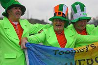 14.06.2012, GDANSK, Poland. EURO 2012, FOOTBALL EUROPEAN CHAMPIONSHIP, SPAIN versus IRELAND, Irish  fans in fancy dress and team colours