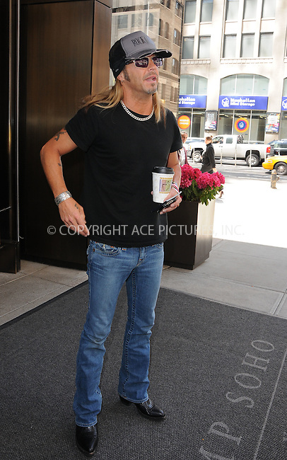 WWW.ACEPIXS.COM . . . . .  ....May 10 2012, New York City....Musician Bret Michaels arrives at a Soho hotel on May 10 2012 in Mew York City....Please byline: CURTIS MEANS - ACE PICTURES.... *** ***..Ace Pictures, Inc:  ..Philip Vaughan (212) 243-8787 or (646) 769 0430..e-mail: info@acepixs.com..web: http://www.acepixs.com