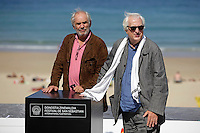 "French director Bertrand Tavernier (R) and producer Frederic Bourboulon in the photocall of the ""Quai D´orsay"" film presentation during the 61 San Sebastian Film Festival, in San Sebastian, Spain. September 24, 2013. (ALTERPHOTOS/Victor Blanco) <br /> San Sebastian Film Festival <br /> Foto Insidefoto"