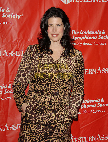 MELISSA FITZGERALD.The 2nd Annual Celebrity Rock 'n Bowl presented by The Leukemia & Lymphoma Foundation held at The Lucky Strike Lanes in Hollywood, California, USA..April 6th, 2006.Ref: DVS.half length leopard print giraffe animal coat.www.capitalpictures.com.sales@capitalpictures.com.Supplied By Capital PIctures