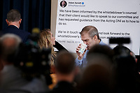 Republican Representative from Ohio Jim Jordan arrives for the House Permanent Select Committee on Intelligence public hearing on the impeachment inquiry into US President Donald J. Trump, on Capitol Hill in Washington, DC, USA, 19 November 2019. The impeachment inquiry is being led by three congressional committees and was launched following a whistleblower's complaint that alleges US President Donald J. Trump requested help from the President of Ukraine to investigate a political rival, Joe Biden and his son Hunter Biden.<br /> Credit: Shawn Thew / Pool via CNP/AdMedia