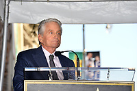 LOS ANGELES, CA. November 06, 2018: Michael Douglas at the Hollywood Walk of Fame Star Ceremony honoring actor Michael Douglas.<br /> Pictures: Paul Smith/Featureflash