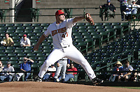 June 1, 2004:  Pitcher Rick Helling of the Rochester Red Wings, Triple-A International League affiliate of the Minnesota Twins, during a game at Frontier Field in Rochester, NY.  Photo by:  Mike Janes/Four Seam Images