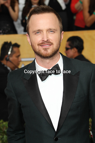 LOS ANGELES, CA - JANUARY 18: Aaron Paul attending the 2014 SAG Awards in Los Angeles, California on January 18, 2014.<br /> Credit: RTNUPA/MediaPunch<br /> Credit: MediaPunch/face to face<br /> - Germany, Austria, Switzerland, Eastern Europe, Australia, UK, USA, Taiwan, Singapore, China, Malaysia, Thailand, Sweden, Estonia, Latvia and Lithuania rights only -