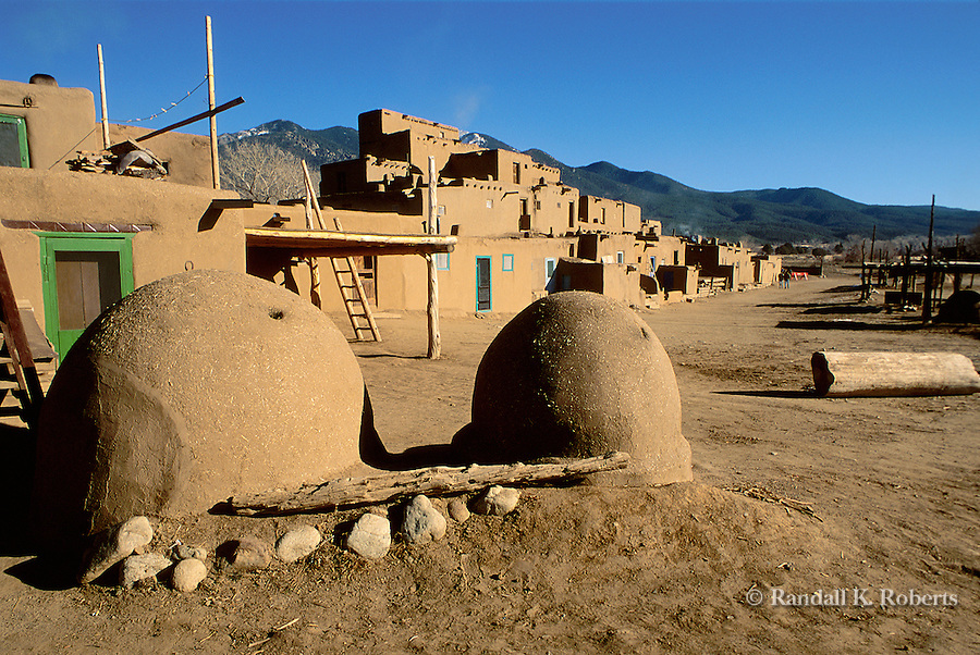 Main Plaza, Taos Indian Pueblo, Taos, New Mexico.