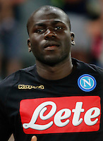 Kalidou Koulibaly  during the friendly soccer match,between SSC Napoli and Onc Nice      at  the San  Paolo   stadium in Naples  Italy , August 01, 2016<br />  during the friendly soccer match,between SSC Napoli and Onc Nice      at  the San  Paolo   stadium in Naples  Italy , August 02, 2016