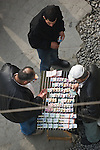 Istanbul, Turkey, Beyoglu, district, Istiklal Caddesi, popular street promenade,  lottery vendor,