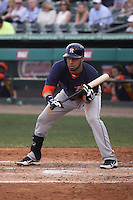 Houston Astros Marwin Gonzalez (9) at bat against the Miami Marlins during a spring training game at the Roger Dean Complex in Jupiter, Florida on March 12, 2013. Houston defeated Miami 9-4. (Stacy Jo Grant/Four Seam Images)........