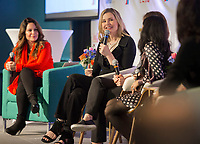 """NWA Democrat-Gazette/JASON IVESTER<br /> Actress Geena Davis speaks Wednesday, May 3, 2017, during a panel called """"Inclusion: Does Tha Mean Me"""" at the Record in Bentonville as part of the Bentonville Film Festival."""
