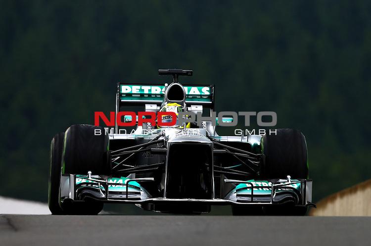 22.08 - 25.08.2013, Circuit de Spa, Francorchamps, BEL, F1, Grosser Preis von Belgien, im Bild  Nico Rosberg (GER), Mercedes GP <br /> for Austria &amp; Germany Media usage only!<br />  Foto &copy; nph / Mathis