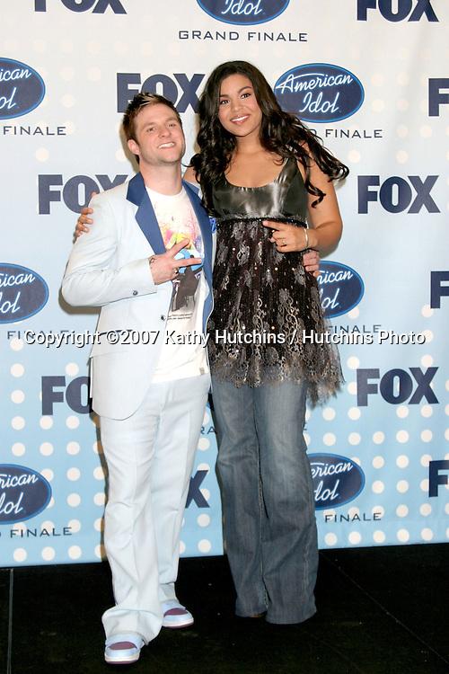 Blake Lewis, Jordin Sparks .American Idol Finale  Season 6.Kodak Theater.Los Angeles, CA.May 23, 2007.©2007 Kathy Hutchins / Hutchins Photo