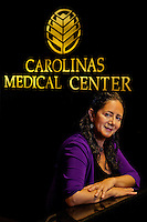 Carolinas Medical Center translator Isa Schiappacasse-Deputy. She is from Chile; grew up in Brazil. ..Photography by: PatrickSchneiderPhoto.com