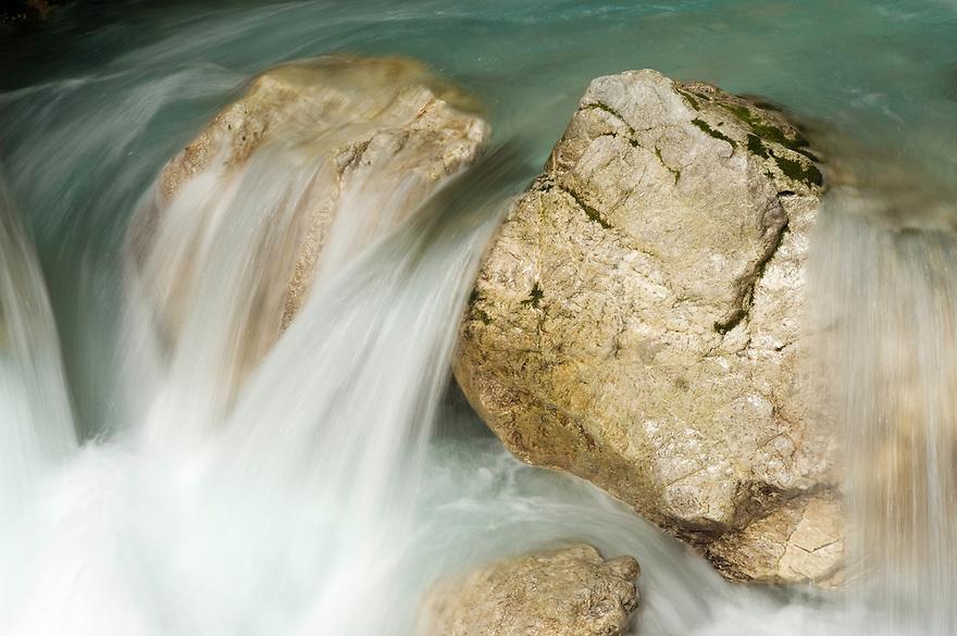 River Tolminka, Tolminka canyon<br /> Triglav National Park, Slovenia<br /> October 2008