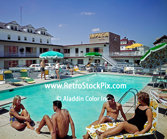Impala Motel, Ocean City, NJ. Pool. 1960's