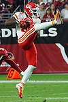 Kansas City Chiefs wide receiver Jason Avant makes a reception during an NFL game against the Arizona Cardinals.