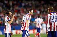 Godin of Atletico de Madrid scores during Champios Legue soccer match between Atletico de Madrid V Malmoe al Vicente Calderon Stadium. October 22, 2014. (ALTERPHOTOS/Caro Marin)