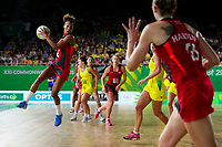 Picture by Alex Whitehead/SWpix.com - 15/04/2018 - Commonwealth Games - Netball - Coomera Indoor Sports Centre, Gold Coast, Australia - England's Serena Guthrie in action during the Gold medal final against Australia.