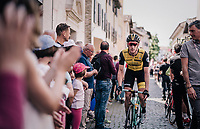 Jos Van Emden (NED/LottoNL-Jumbo) to the race start <br /> <br /> stage 14 San Vito al Tagliamento &ndash; Monte Zoncolan (186 km)<br /> 101th Giro d'Italia 2018