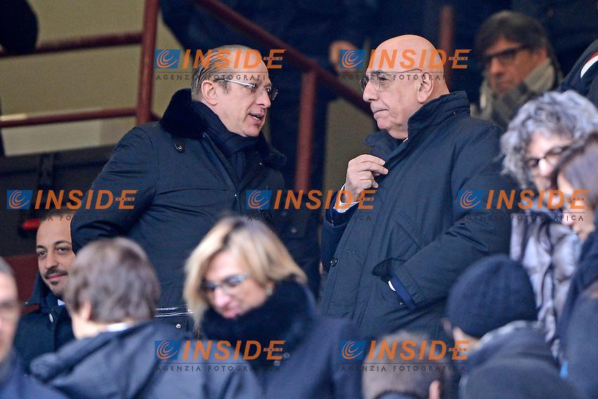 Paolo Berlusconi, Adriano Galliani Milan<br /> Milano 18-01-2015 Stadio Giuseppe Meazza - Football Calcio Serie A Milan - Atalanta. Foto Giuseppe Celeste / Insidefoto