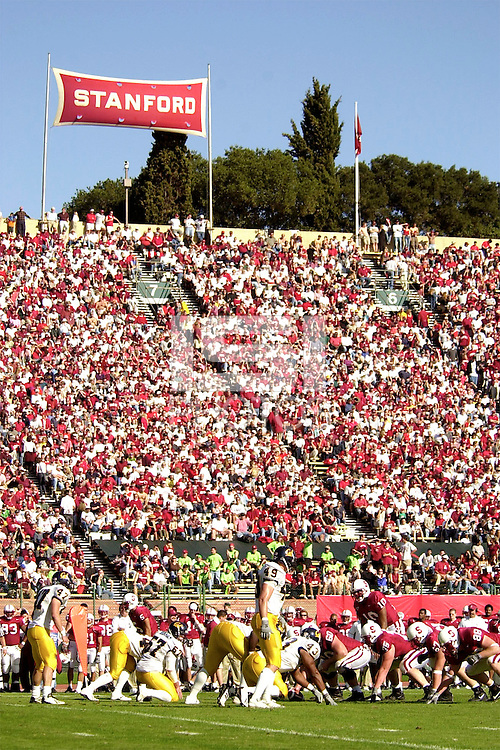 Fans during Stanford's 35-28 win over Cal on November 17, 2001 at Stanford Stadium.<br />Photo credit mandatory: Gonzalesphoto.com