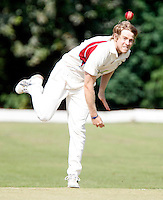 A Murphy bowls for Hornsey during the Middlesex County Cricket League Division Two game between Hornsey and Harrow Town at Tivoli Road, Crouch End on Sat Sept 3, 2011