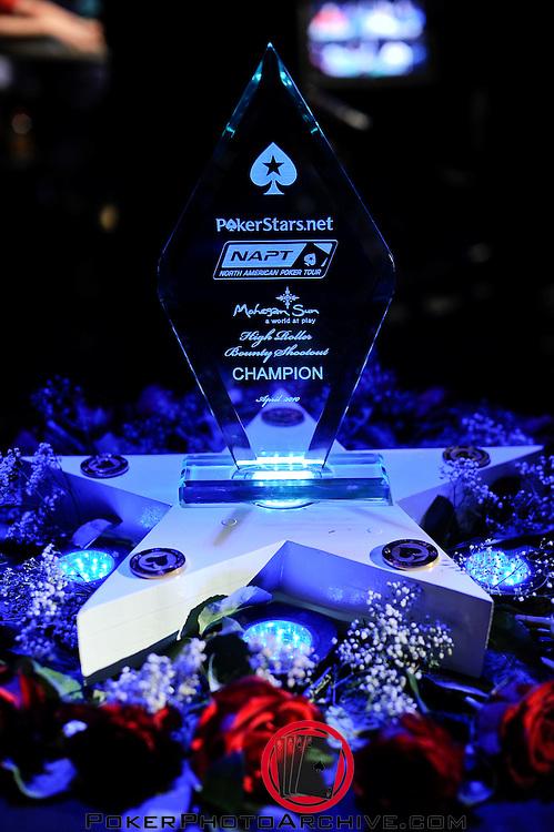 The NAPT Mohegan Sun Bounty Shootout Trophy