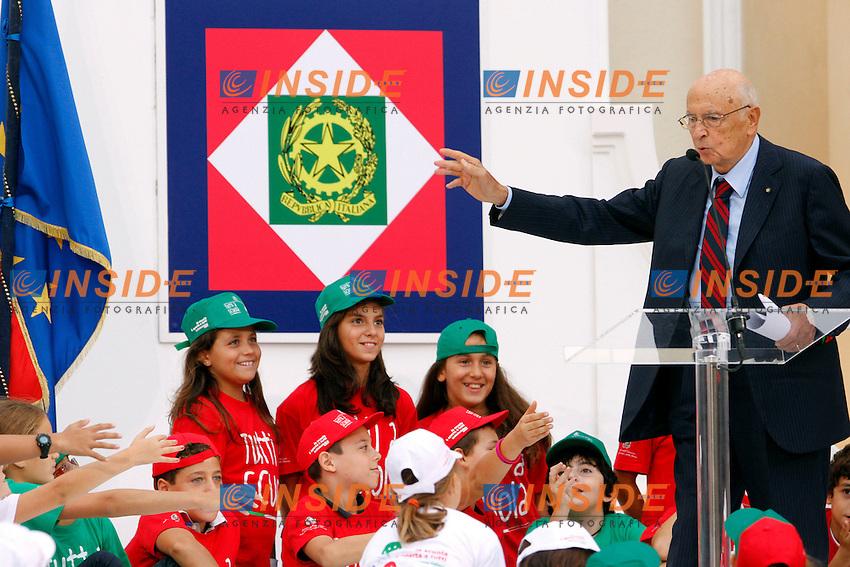 Giorgio Napolitano.Roma 25/09/2012 Quirinale. Inaugurazione dell'anno scolastico 2012-2013..Photo Samantha Zucchi Insidefoto