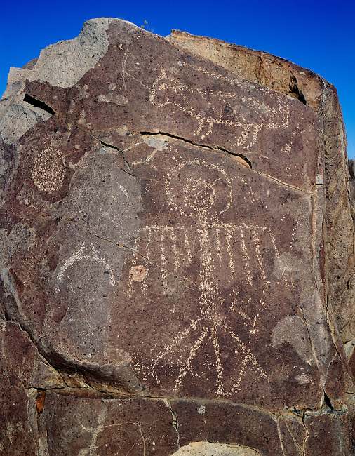 Jornada-style petroglyphs; Three Rivers Petroglyph Site, New Mexico