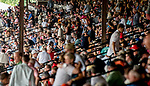 SARATOGA SPRINGS, NY - AUGUST 25: The grandstands fill with a crowd on Travers Stakes Day at Saratoga Race Course on August 25, 2018 in Saratoga Springs, New York. (Photo by Scott Serio/Eclipse Sportswire/Getty Images)
