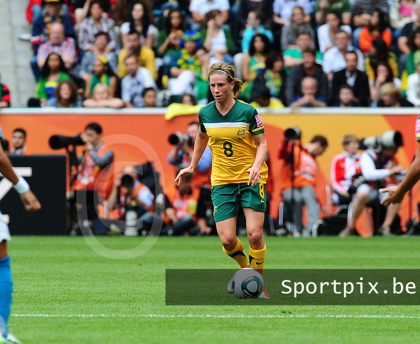 Fifa Women's World Cup Germany 2011 : Brazil - Australia  at Borussia - Park in Munchengladbach : Elise Kellond-Knight.foto DAVID CATRY / Vrouwenteam.be