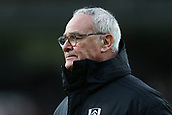 9th February 2019, Craven Cottage, London, England; EPL Premier League football, Fulham versus Manchester United; A disappointed Fulham Manager Claudio Ranieri